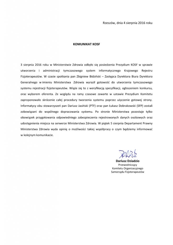Komunikat KOSF 04.08.2016-1