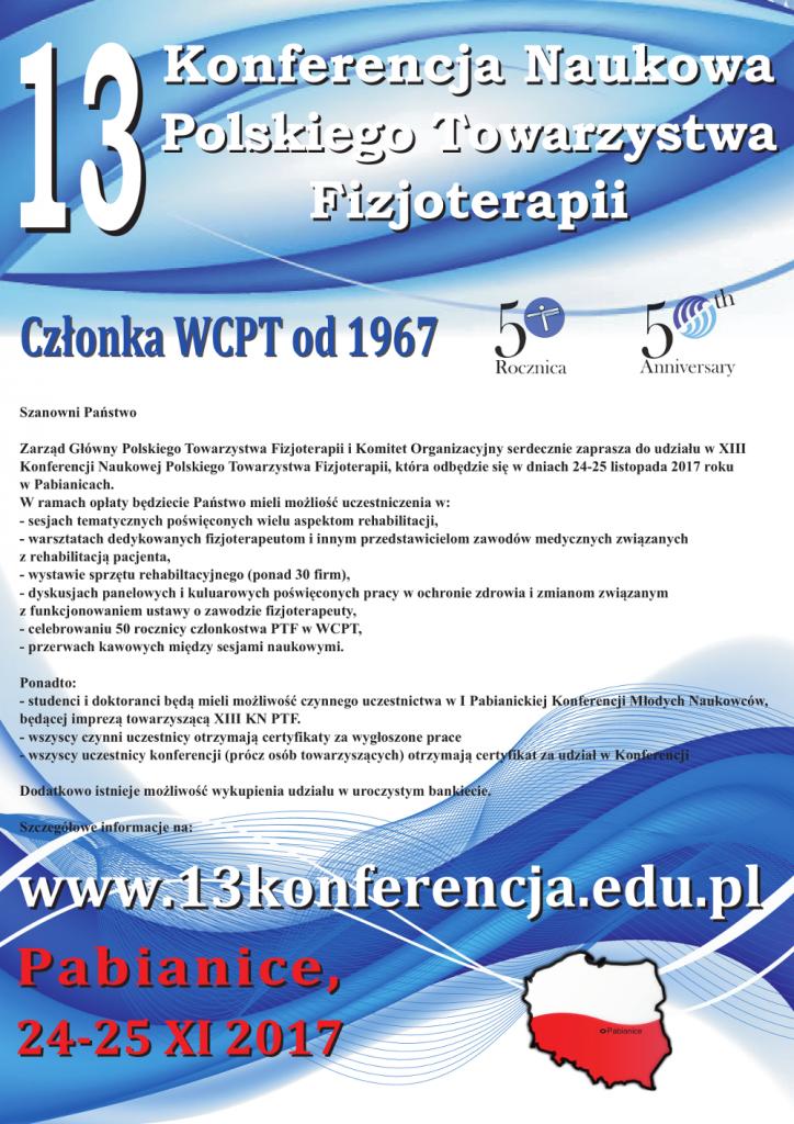 XIII Konferencja PTF - zaproszenie