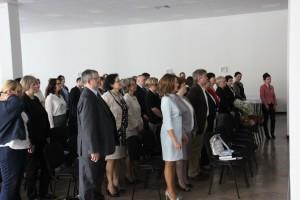 Goście sympozjum w trakcie ćwiczeń zaordynowanych przez Prof. Z. Ślwińskiego