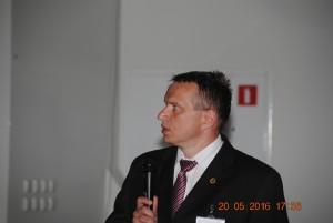 Mgr Marcin Szczepanik w trakcie wystąpienia