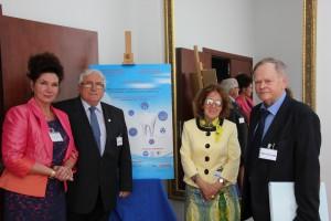 Od lewej: Dr D. Lietz-Kijak, Prof. Z. Ślwiński, Prof. K. Opalko, Prof. F. Jaroszyk
